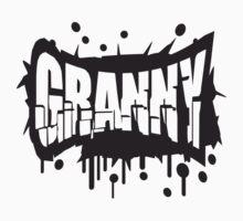 Cool Granny Graffiti Logo T-Shirt