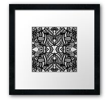 Miniature Aussie Tangle 10 Alternate Pattern Variation Framed Print