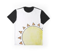 Watercolor Sun on White  Graphic T-Shirt