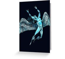 ICARUS THROWS THE HORNS - GOT THE BLUES Greeting Card