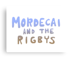 Mordecai and the Rigbys Canvas Print