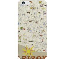 Arizona Vaction State Of The Nation Vintage Travel Poster iPhone Case/Skin
