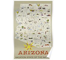 Arizona Vaction State Of The Nation Vintage Travel Poster Poster
