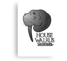 House Walrus (Silver Edition) Canvas Print
