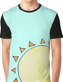 Watercolor Sun on Blue Graphic T-Shirt
