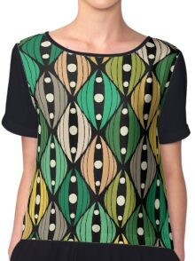 Abstract hand-drawn doodle flowers Chiffon Top