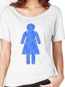 Dreaming Snowflake Girl Paper Doll  Women's Relaxed Fit T-Shirt