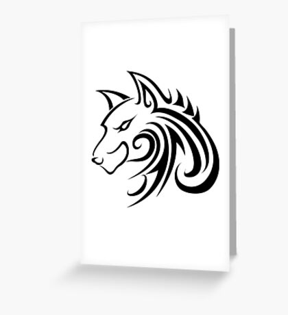 Forme de loup Greeting Card