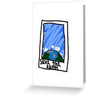Earth Polaroid Greeting Card