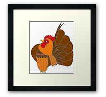 Gold Cocopop (Partridge Base) Framed Print