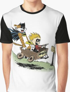 Calvin and Hobbes cosplaying Graphic T-Shirt