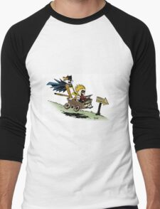Calvin and Hobbes cosplaying Men's Baseball ¾ T-Shirt