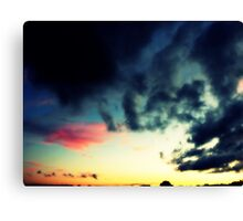 MISTY SKY BEFORE SUNSET Canvas Print