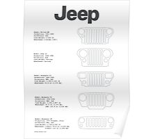 Jeep Grille Lineup Poster