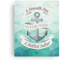 Smooth Sea Anchor Canvas Print