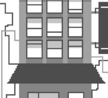 Monochrome Building Sticker