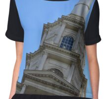 Park Street Church Steeple in Boston  Chiffon Top
