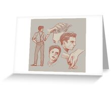 Sketchy Bucky Greeting Card