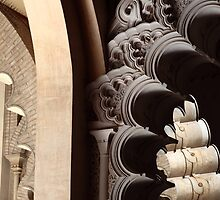 Arches, Aljaferia Palace, Zaragoza, Spain. by remos