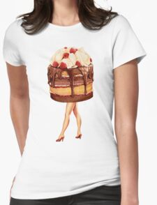 Hot Cakes - Chocolate Raspberry Womens Fitted T-Shirt