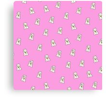 Pink Lucky Cat Canvas Print