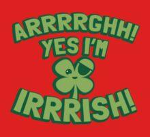 AARGH Yes I'm IRISH! with pirate shamrock One Piece - Short Sleeve