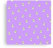 Purple Lucky Cat Canvas Print
