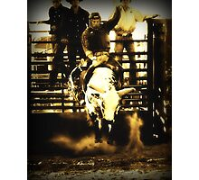 Bull Riding Rodeo Cowboy Country Western Photographic Print