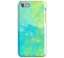 BLUE AND GREEN ABSTRACT 4 iPhone Case/Skin