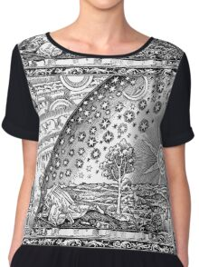 Flammarion - Psychedelic renaissance woodcut Chiffon Top