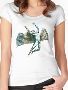 ICARUS THROWS THE HORNS - summer beach Women's Fitted Scoop T-Shirt