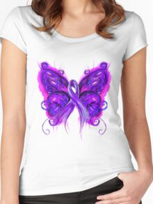 Purplfly Women's Fitted Scoop T-Shirt
