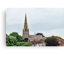 Exeter Cathedral From Canal Canvas Print