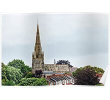 Exeter Cathedral From Canal Poster