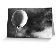 Dark balloon Greeting Card
