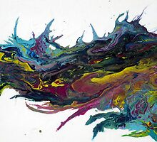 Fluid Acrylic Painting A SPLASH OF ABSTRACT by hollyanderson