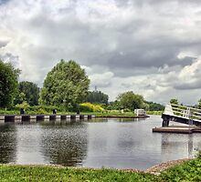 Double Locks Along Exeter Ship Canal  by Susie Peek