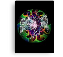 ICARUS THROWS THE HORNS - wavy 60's Canvas Print