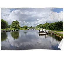 Double Locks Along Exeter Ship Canal 2 Poster