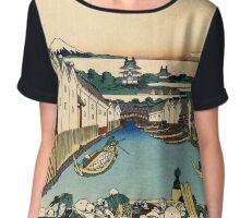 Japanese Print:  Edo Bridge Chiffon Top