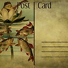 Post Card - The Frog the Fishes and the Lotus by © Kira Bodensted