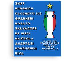 Italy Euro 1968 Winners Canvas Print