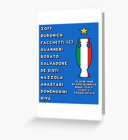 Italy Euro 1968 Winners Greeting Card