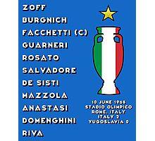 Italy Euro 1968 Winners Photographic Print