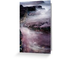 Coastal Textures at Dusk Greeting Card