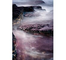 Coastal Textures at Dusk Photographic Print