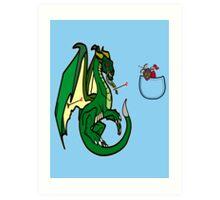 Dragons and Knights Art Print