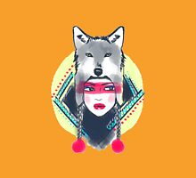 Girl With Wolf Hat Unisex T-Shirt