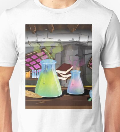 Science Laboratory with experiments bubbling Unisex T-Shirt