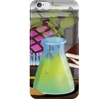 Science Laboratory with experiments bubbling iPhone Case/Skin